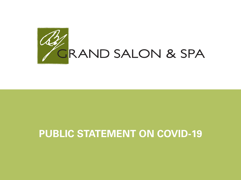 Public statement from BJ Salons on COVID-19
